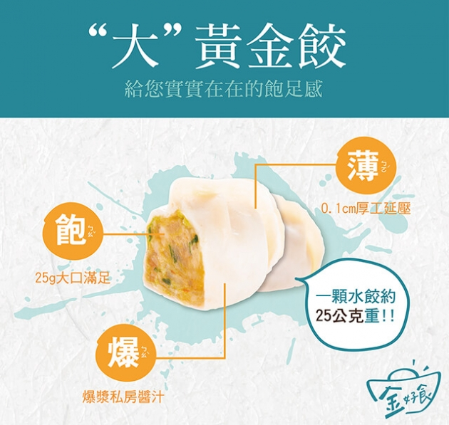 黃金餃含運超值組【兩入任選】(優惠組合 美安會員不適用) 7